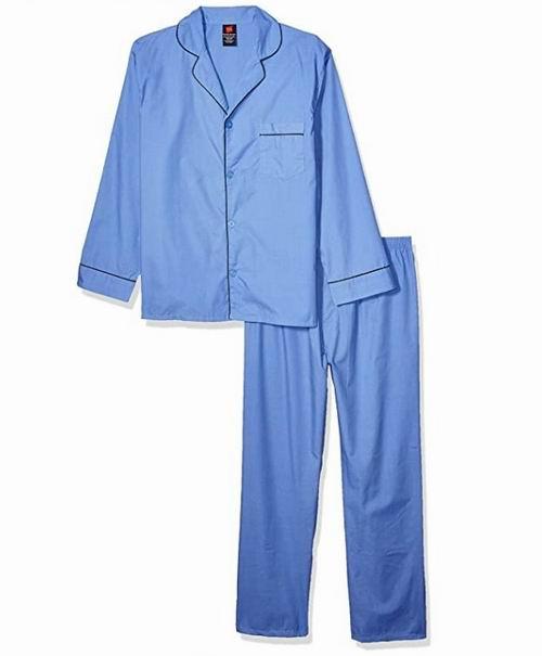 Hanes男士55%棉混纺梭织平纹睡衣套装 32.21加元,原价 40.99加元