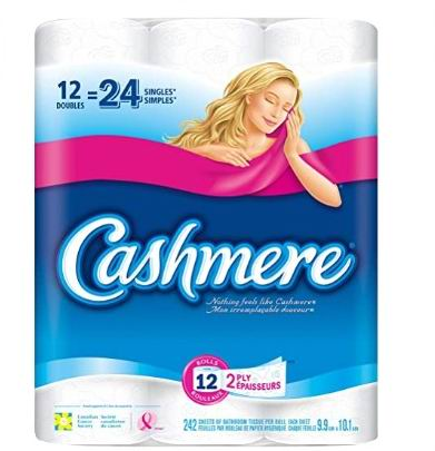 Cashmere 双层厕纸/卫生纸12卷 22.99加元
