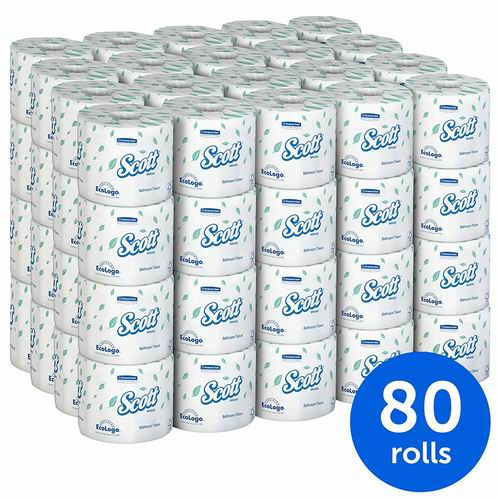 Scott 双层厕纸/卫生纸 80卷 64加元(每卷0.8加元),原价 80加元,包邮