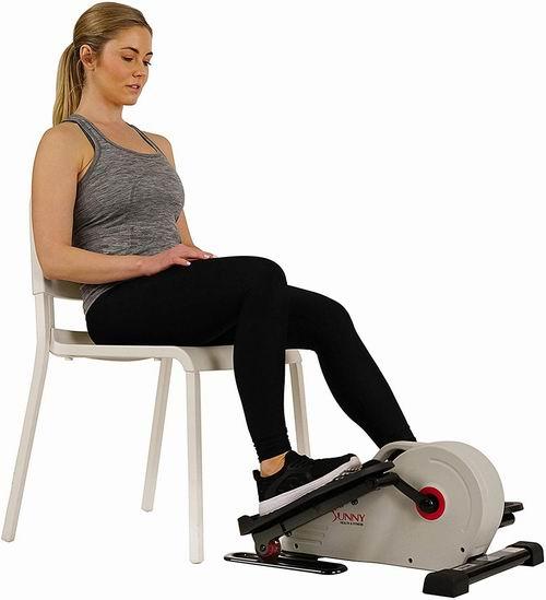 不费膝盖 边刷剧边有氧!Sunny Health & Fitness 家用椭圆机/踏步机 8.5折 158.07加元,原价 185.99加元,包邮