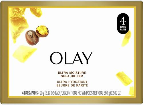 Olay 乳木果超级保湿香皂 4块 3.69加元