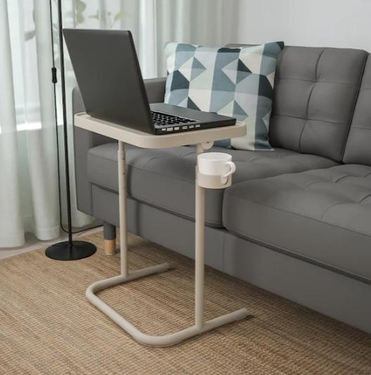 好物推荐!BJÖRKÅSEN 带水杯槽 可折叠沙发边桌 29.99加元