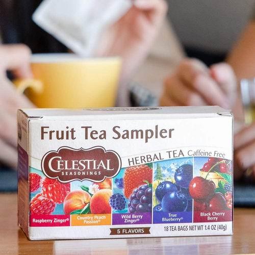 Celestial Seasonings 水果茶、草本甘菊茶、姜茶、节日茶 20袋/1盒 3.49加元起