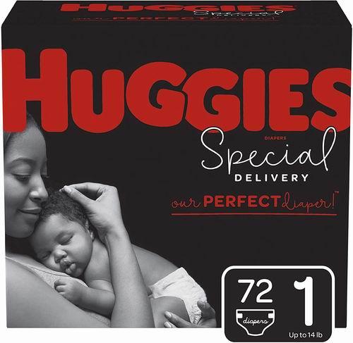 Huggies Special Delivery Size 1幼儿纸尿裤 72片装 18.98加元,原价 24.56加元