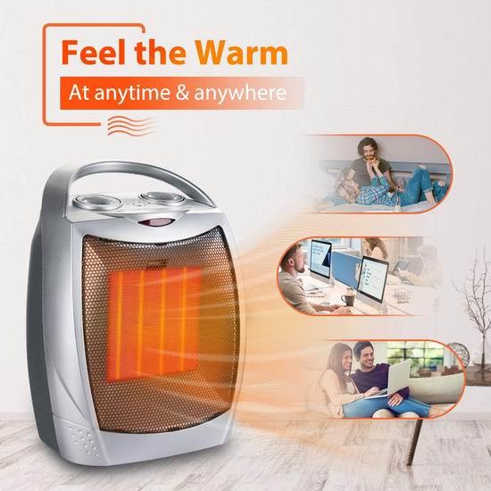 Brightown 1500W 一机两用 陶瓷电取暖器/电风扇 39.09加元包邮!