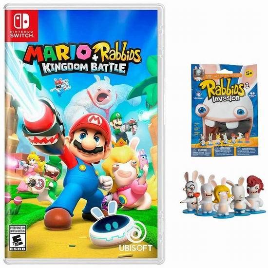 任天堂《Mario + Rabbids 马里奥+疯兔:王国之战》Switch版+迷你公仔盲袋3.2折 29.95加元!