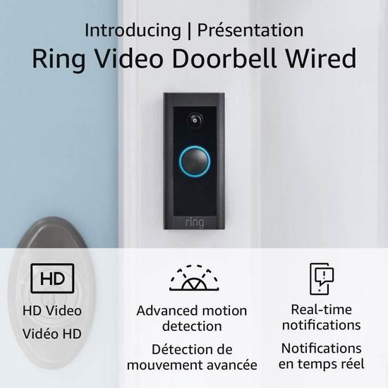 历史最低价!Ring Video 有线版 1080P 可视智能门铃 59.99加元包邮!