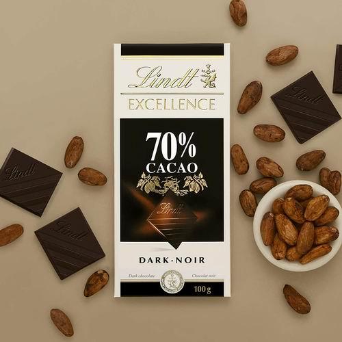 Lindt 瑞士莲 Excellence 黑巧克力 100克 3.27加元