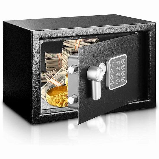 SereneLife SLSFE12 防火 电子密码保险箱 54.99加元包邮!