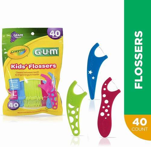 GUM Crayola 儿童牙线40个装  2.29加元