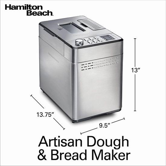 手慢无!历史新低!Hamilton Beach 29888 2磅立式不锈钢面包机6.4折 79.98加元包邮!