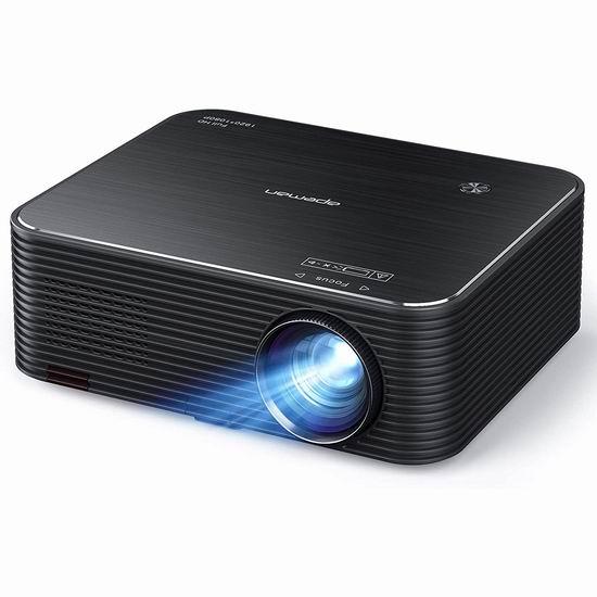 APEMAN 原生1080P全高清 家庭影院LED投影仪 6.6折 229.99加元包邮!