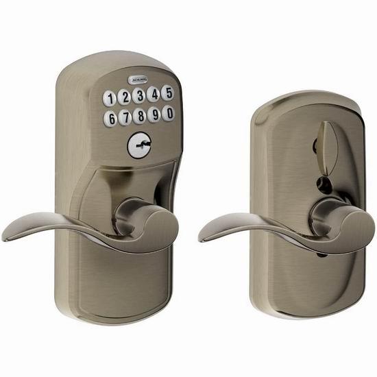 Schlage 西勒奇 FE595 PLY 620 家用电子密码门锁5.5折 98.91加元包邮!