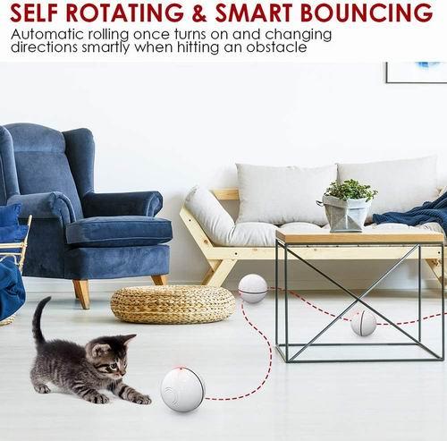 养猫必备神器!Delomo 智能互动猫咪玩具球 12.74加元限量特卖,原价 16.99加元
