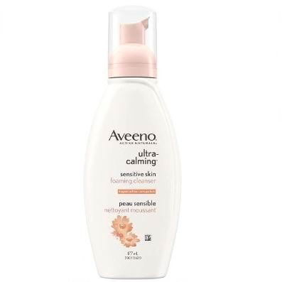 Aveeno 超温和大豆镇静舒缓泡沫洁面乳 177毫升 6.12加元,原价 8.61加元