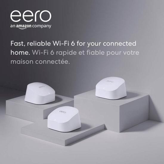 历史最低价!Amazon eero 6 双频 WiFi 6 无线网状系统3件套 319加元包邮!