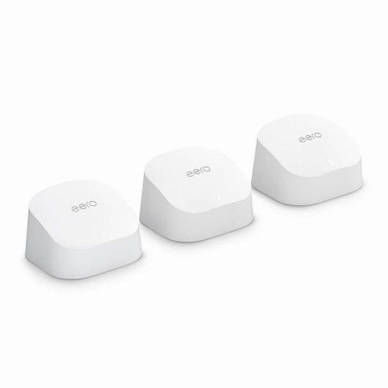 历史最低价!Amazon eero 6 双频 WiFi 6 无线网状系统3件套 7折 279加元包邮!