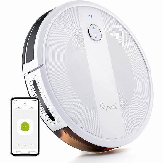 Kyvol Cybovac E20 2000Pa超强吸力 WiFi智能扫地机器人6.6折 199.99加元包邮!2色可选!
