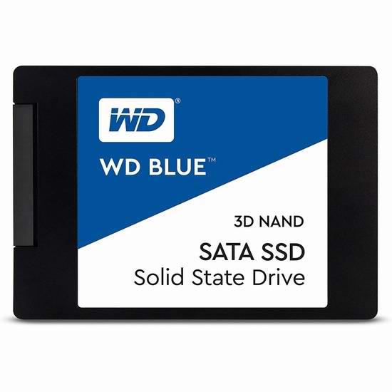 历史新低!WD 西数 Blue 3D NAND 500GB PC SSD 固态硬盘 64.99加元包邮!