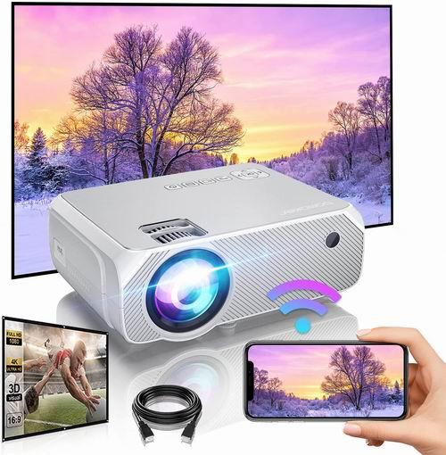 Bomaker Wi-Fi 原生720P Wi-Fi无线 LED家庭影院投影仪 8.4折 159.99加元+包邮