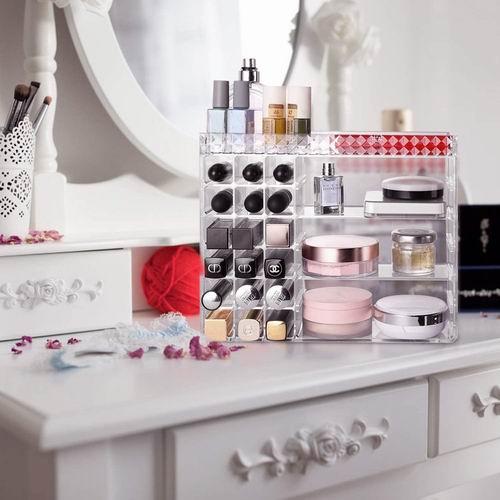 alvorog 可调节3层化妆品收纳盒 19.2加元限量特卖,原价 22.59加元