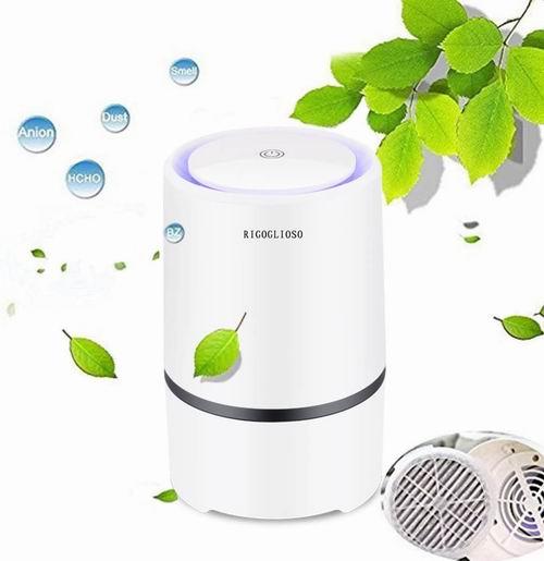 历史新低!RIGOGLIOSO HEPA过滤 便携式低噪声空气净化器5折 27.71加元包邮!