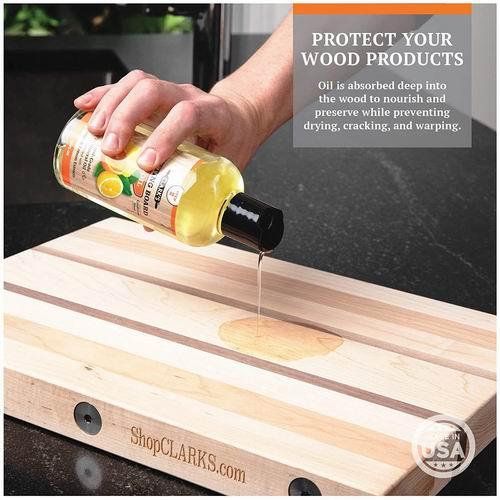 CLARK'S 柠檬橙木质菜板护理油12盎司 14.95加元,原价 18.95加元