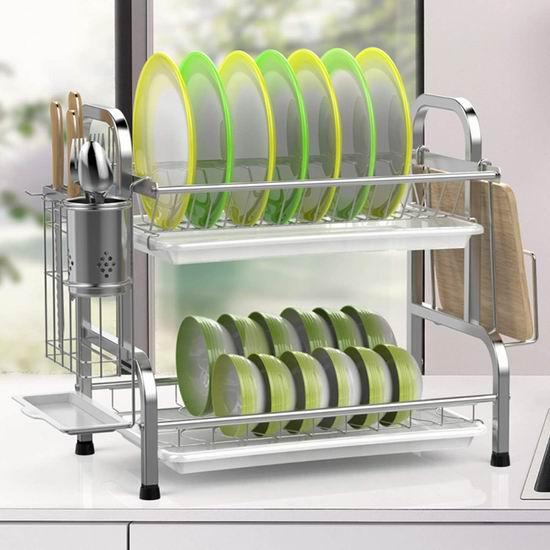 iSPECLE 304不锈钢 双层餐具沥水架 46.74加元限量特卖并包邮!