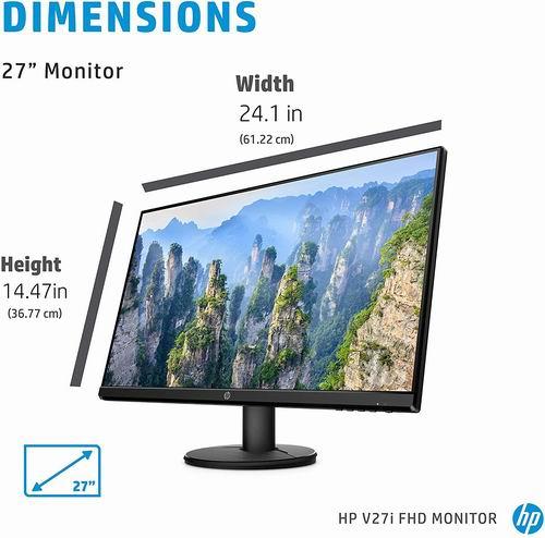 HP V27i FHD 全高清显示器 149.99加元,原价 204.46加元,包邮