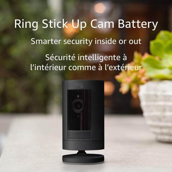 历史新低!Ring Stick Up Cam Battery 室内外 无线/有线 家用智能监控摄像头 99.99加元包邮!2色可选!