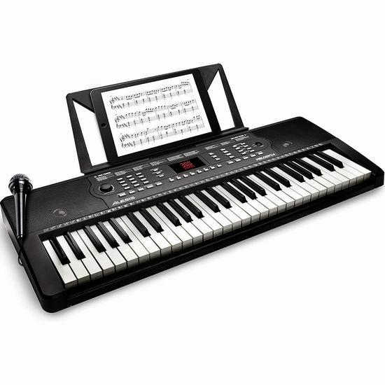 Alesis Melody 54键便携式电子琴 89加元包邮!内置300音色+300节奏+40乐曲!