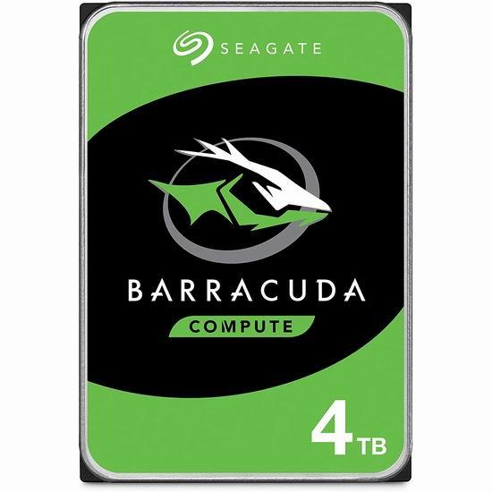 历史最低价!Seagate 希捷 BarraCuda 酷鱼 4TB 台式电脑机械硬盘 94.99加元包邮!