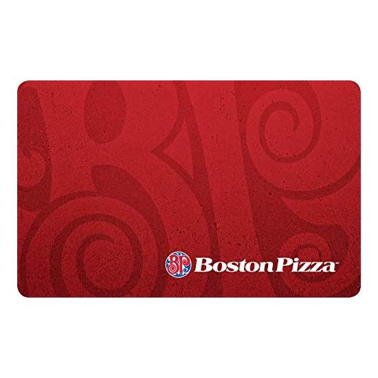Boston Pizza 披萨连锁店 50加元电子礼品卡限时8折!