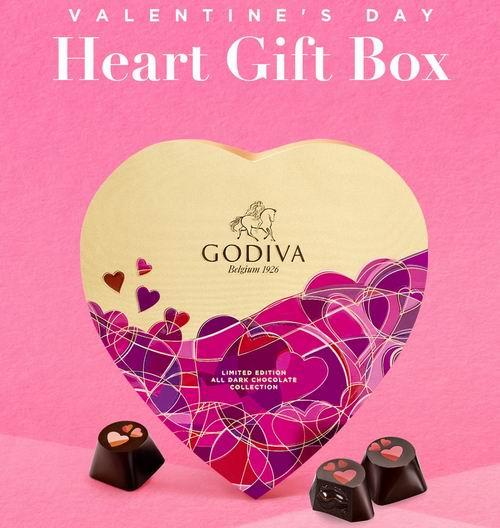Godiva 歌帝梵巧克力6折起+新用户8.5折+满送19颗金缎巧克力礼盒装,入爱心礼盒装!
