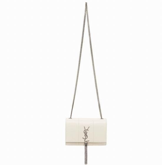 YSL Kate Tassel 时髦流苏链条包 白色款 6.2折 1956加元,原价 3155加元,包邮