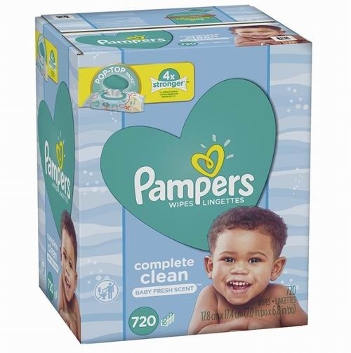 Pampers帮宝适 婴儿湿纸巾 720张 16.13加元,原价 19.97加元