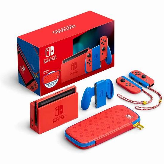 新品发售!Nintendo Switch 超级马里奥 限定版游戏机 399.96加元包邮!