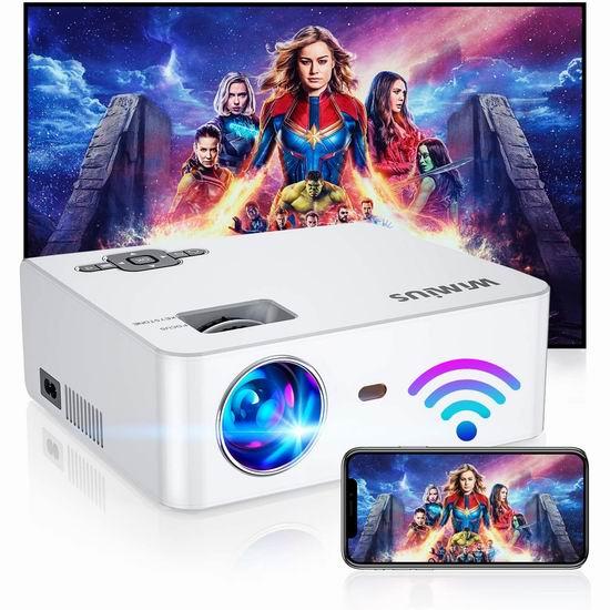历史新低!WiMiUS 原生720P 6000流明 WiFi无线 家庭影院投影仪 108.88加元包邮!