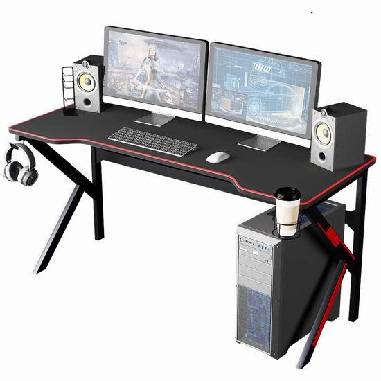 sogesfurniture 63英寸 专业游戏电脑桌 199加元限量特卖并包邮!