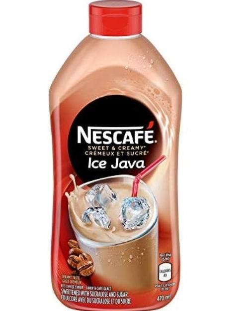 NESCAFÉ 冰咖啡糖浆 470毫升 4.44加元,在家喝一杯自制咖啡,也可以很美