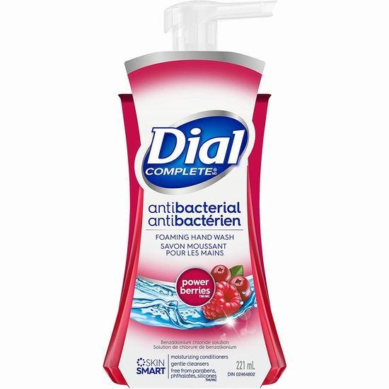 历史新低!Dial 浆果味 抗菌保湿洗手液(221毫升)4.3折 1.5加元!