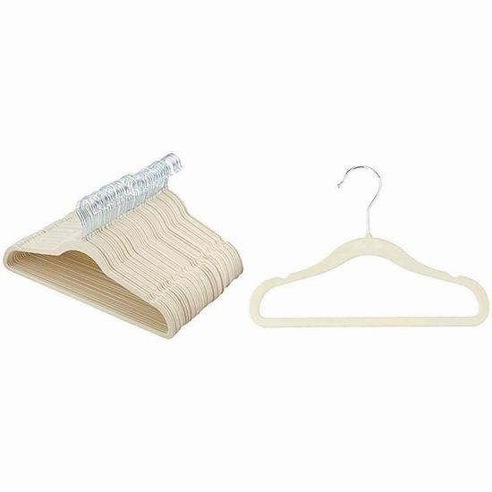 历史新低!AmazonBasics 绒面超薄衣架50件套6.2折 22.71加元!
