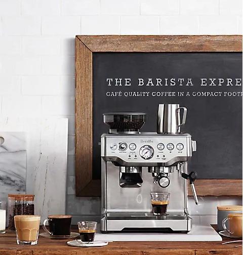 Breville BES870BSXL Barista Express 意式浓缩咖啡机 带磨豆器 764.99加元+包邮