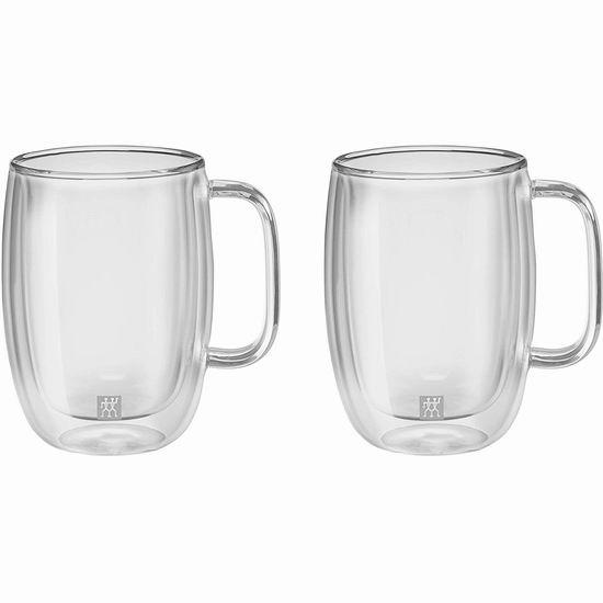 Zwilling 双立人 Sorrento Plus 双层隔热保温 咖啡杯/饮料杯(450ml)2件套5.1折 27.99加元!