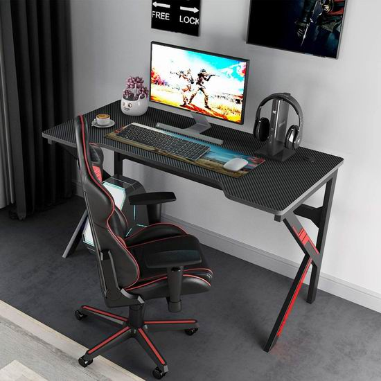 DlandHome 47英寸 专业游戏电脑桌 118.14加元限量特卖并包邮!