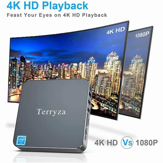 Terryza 迷你PC电脑(8GB/128GB SSD) 217.99加元包邮!