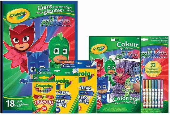 送给孩子的礼物!Crayola PJ Masks彩色绘画 49件套  8.5折 29.3加元