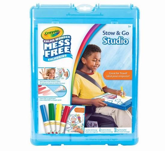 送给孩子的礼物!Crayola 可水洗彩色马克笔4支+书写板30页礼盒装 7.5折 9.8加元