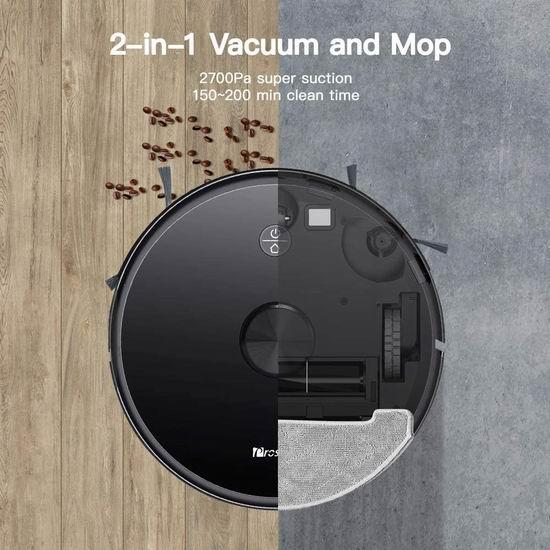 金盒头条:历史最低价!Proscenic M7 Pro 2700Pa超强吸力 扫拖一体 智能扫地机器人 409加元包邮!