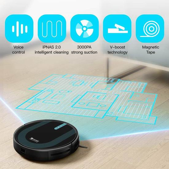 Proscenic 850T Wi-Fi 3000Pa超强吸力 拖吸一体 智能扫地机器人 299加元包邮!